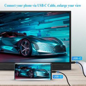 Image 3 - Eyoyo EM15K נייד צג 15.6 HDR LCD HDMI USB סוג C IPS מסך טלפון נייד מחשב PS4 מתג XBOX 1080p משחקי צג