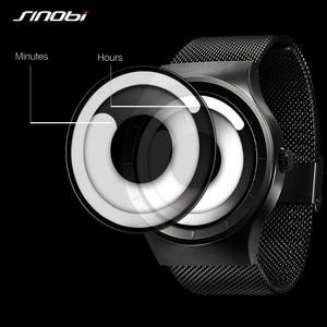 Image 2 - SINOBI Reloj único Vortex Concept para hombre, acero inoxidable 316L, banda de Milán, deportivo, de pulsera, negro