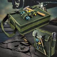 Bolsa de almacenamiento de herramientas de Metal bolsa de almacenamiento para electricista hogar bolso de hombro para reparación electricista organizador de almacenamiento