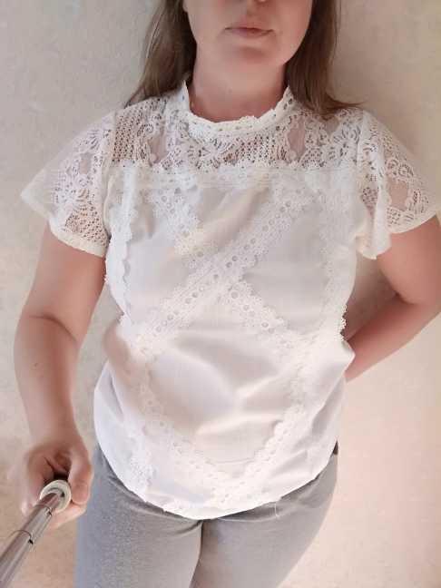 แฟชั่นผู้หญิงเสื้อลูกไม้ Patchwork Flare Ruffles แขนสั้นน่ารักดอกไม้ผู้หญิงเสื้อและเสื้อ blusas mujer de Moda 2019