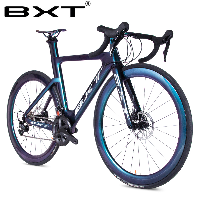 2019 Carbon Fiber Road Bike Ultralight T800 Carbon Bike Racing Complete Bicycle Road 11 Speed City Bike Disc Brake Road Bicycle