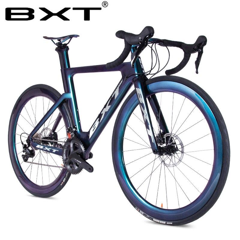 2020 Carbon Fiber Road Bike Ultralight T800 Carbon Bike Racing Complete Bicycle Road 11 Speed City Bike Disc Brake Road Bicycle