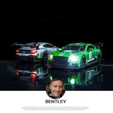 Simulation Bentley GT3 Racing Alloy Car Model Childrens Sound and Light Pullback Toy