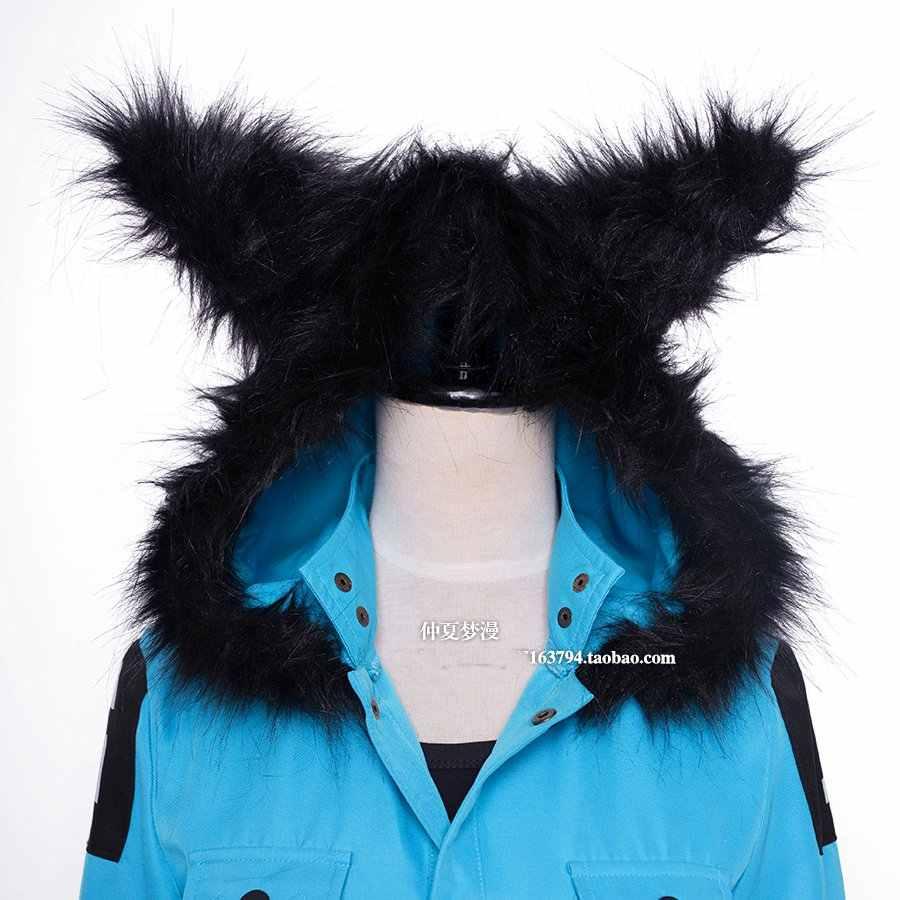 אנימה Servamp מנומנם אפר Kuro ערפד שחור חתול מעיל למעלה מכנסיים אחיד תלבושת Cosplay תלבושות