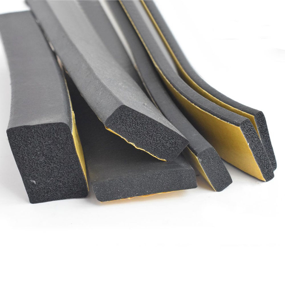 Rubber Self Adhesive Sponge Seal Strip Width 8~50mm Thick 2~10mm EVA Black Foam Anti-collision Seal Gasket