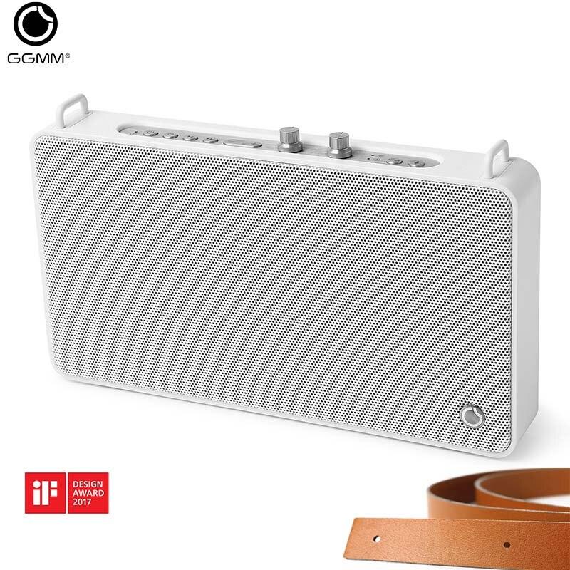 GGMM Portable Bluetooth haut-parleur sans fil stéréo HiFi barre de son avec micro meilleure basse 21 heures temps de jeu Subwoofer 20W DSP pilote