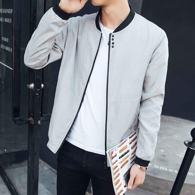 Meihuida 플러스 사이즈 남성 스마트 캐주얼 폭격기 지퍼 자켓 코트 남성 streetwear 슬림 피트 파일럿 야구 자켓