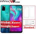 Глобальная версия Infinix Горячая 10 Lite 2 Гб оперативной памяти, 32 Гб встроенной памяти, мобильный телефон 5000 мА/ч, Батарея 6,6