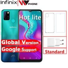 Versão global infinix quente 10 lite 2gb 32gb celular 5000mah bateria 6.6 hd hd 1600*720p 13mp câmera helio a20
