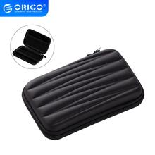 ORICO 2 5 Inch HDD Bag Hard Disk Case Zipper Pouch Mini Powerbank EVA Box Carrying Case Electronic Organizer for Samsung cheap CN(Origin) 2 5 HDD Protection Bag Black 150*100*35mm 100g Interlayer design HDD SSD Portect storage for USB Accessories
