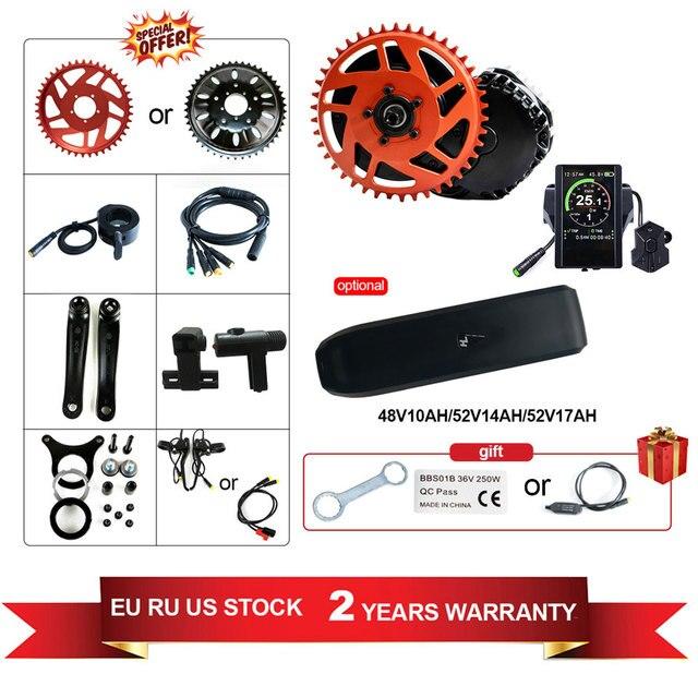 48V52V1000W Bafang BBSHD Ebike Elektrische Fahrrad Center Motor 8fun Mitte Antrieb Conversion Kit MM.G 320,1000 10AH/14AH/17AH Samsung
