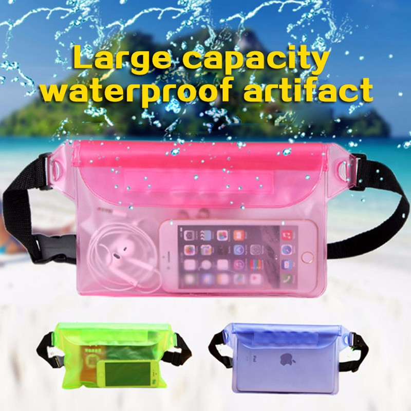 Waterproof Drift Diving Swimming Bag Underwater Dry Shoulder Waist Pack Bag Pocket Pouch For Iphone 7 8 XR Xs Case Cover/camera