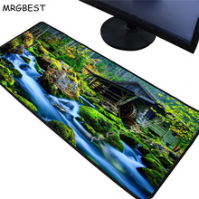 MRGBEST Forest Creek 400x900x3/300x800x2mm CSGO DOTA Gamer Large Game Mouse Pad Player Locking Edge Mousepad Keyboard Mat