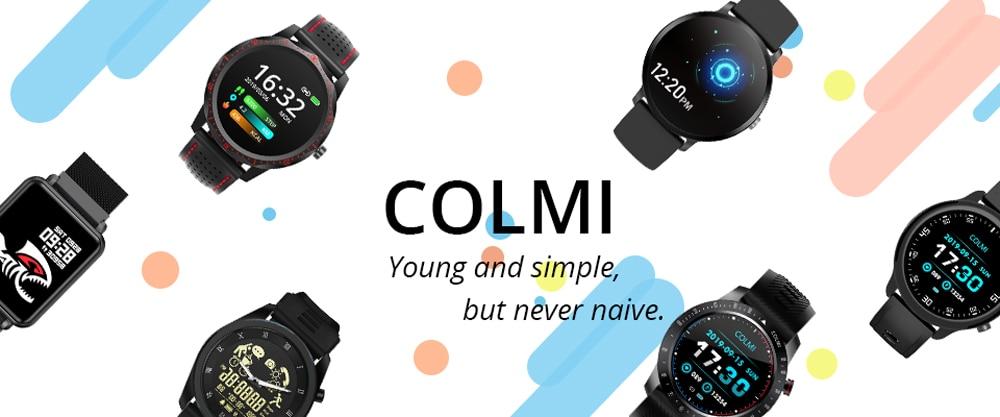 Ha8c81cd5313b4fea8a66209c66b7b0b26 COLMI P8 Plus 1.69 inch 2021 Smart Watch Men Full Touch Fitness Tracker IP67 waterproof Women GTS 2 Smartwatch for Xiaomi phone