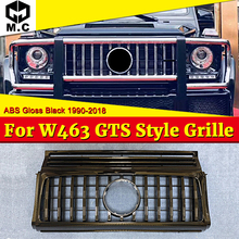 For MercedesMB G Class W463 GT R Style Grill Replacement Sport ABS Black Front Grille without Sign G500 G550 look grills 1990-18
