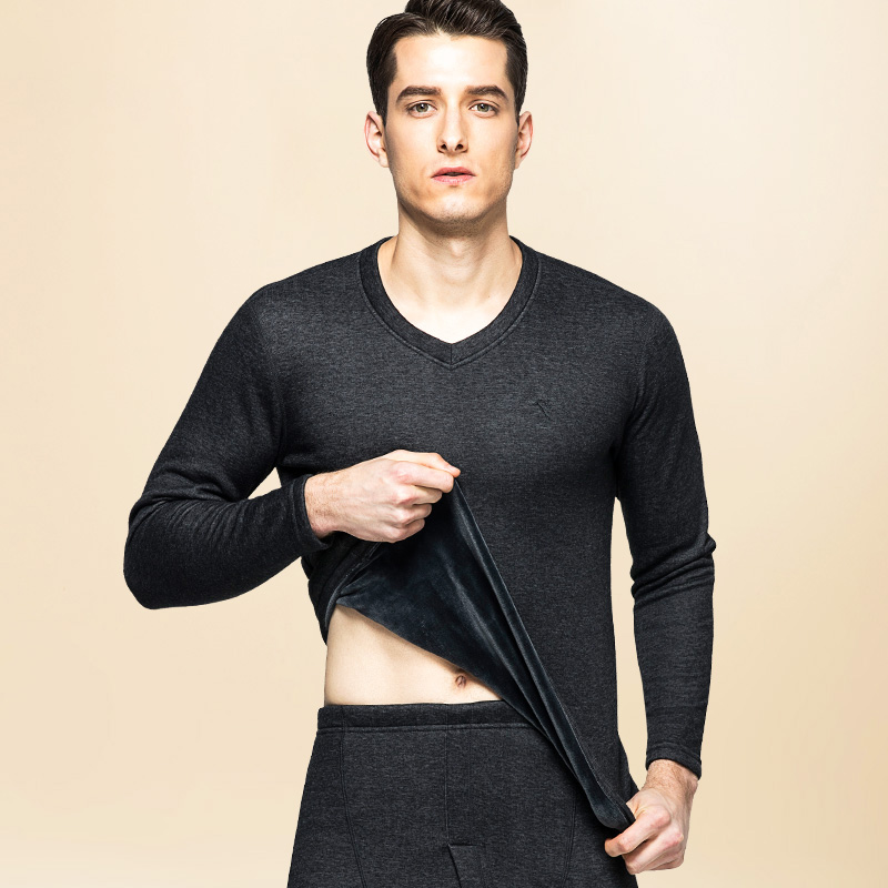 2019 Winter Thick Thermal Underwear Warm Cotton Long Johns Underwears Men Winter Clothing Man's Warm Thermo Underwear Set