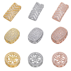 Juya DIY Beading Jewelry Fittings Handmade Decorative Copper Spacer Bars Charm Beads For Handmade Pearls Jewelry Making Findings