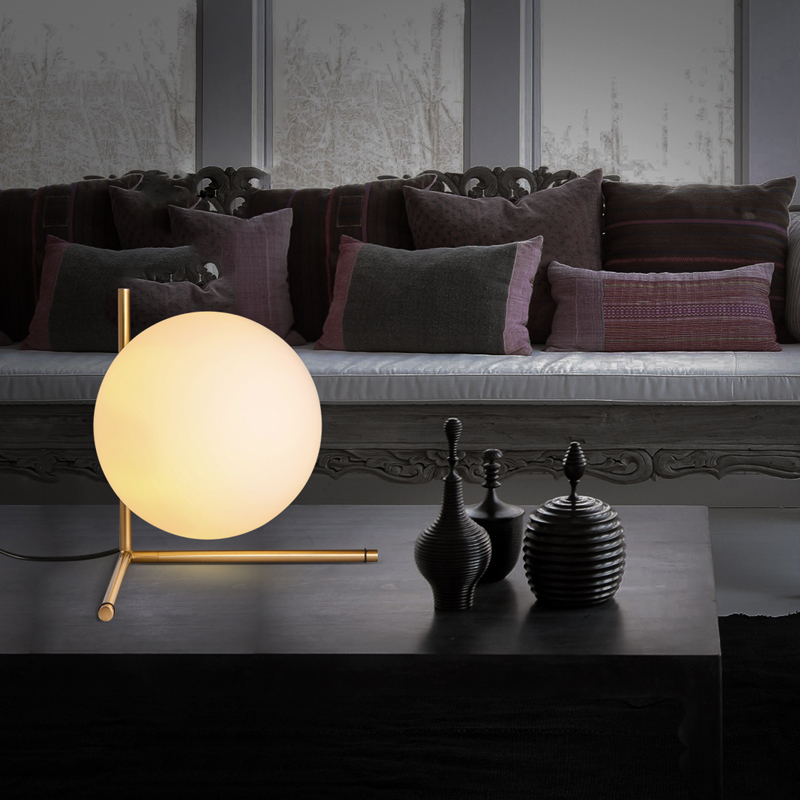 modern style glass ball tabel lamp Scandinavian minimalist bedroom bedside lamp personalized decoration ball lamp