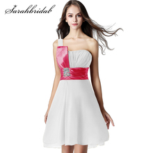 Simple Short Homecoming Dresses For Graduation Party Formal 2019 Pleat One Shoulder prom Cocktail Gown SD017