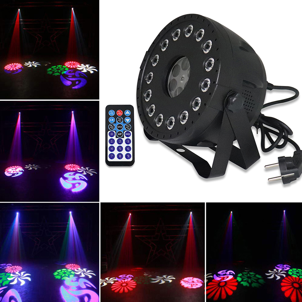 30W 15 LED Stage Par Lights 2 in 1 Strobe Party Lights RGB Pattern Lights For DJ Disco Show Wedding Birthday Wash Lighting