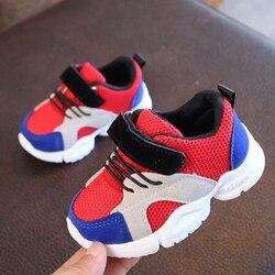 Ortoluckland nowe mody dzieci siatki sportowe buty dzieci miękkie podeszwy PU skórzane buty do biegania dziecko Sneaker maluch obuwie Trampki Matka i dzieci -