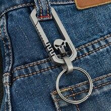 Clip EDC Titanium-Alloy Multi-Functional Traveller Outdoor Buckle Carabiner-Keychain-Hook