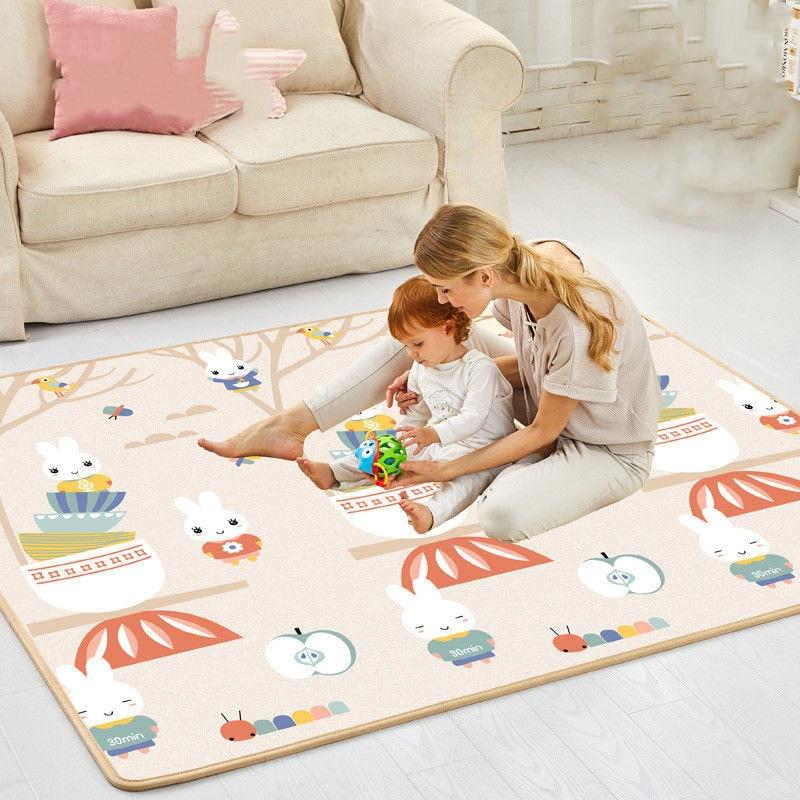 200cm * 180cm XPE 아기 놀이 매트 아이들을위한 장난감 깔개 Playmat 개발 매트 아기 방 크롤링 패드 접는 매트 아기 카펫