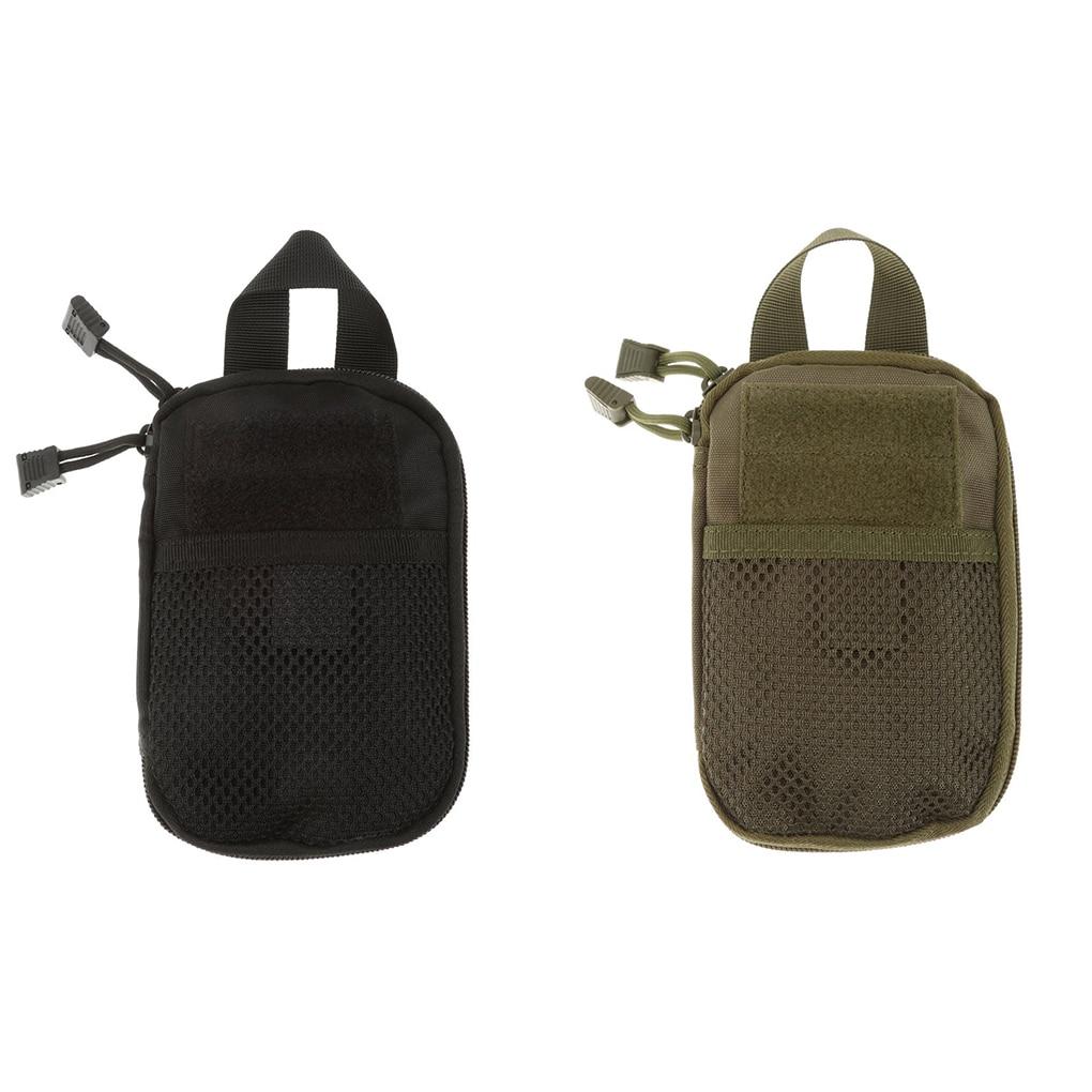 A0NIJIE Outdoor Hiking Solid Color Waist Bag Camping Travel Smartphone Money Waist Belt Bag Zipper Pouch