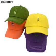 Cotton Avocado Banana Green Fruit Snapback Cap For Men Women Hip Hop Dad Hat Baseball Bone Garros