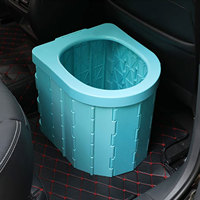 Portable car folding toilet camping commode waterproof travel car potty energency vehicular urinal toilet for camping accessory