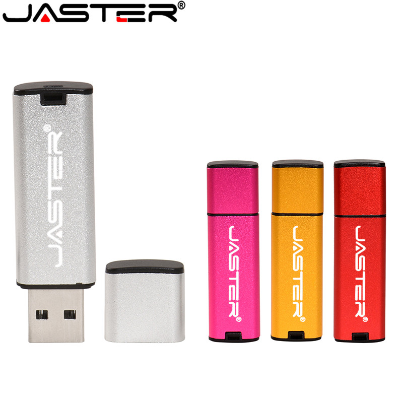 JASTER USB Flash Drive Plastic USB 2.0 Pen Drive 128GB 64GB 32GB 16GB 8GB 4GB USB Stick Red Blue Black Silver Pink Pendrive Gift
