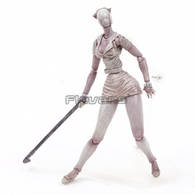 Serbest Figma SP 061 Silent Hill 2 Kabarcık Kafa Hemşire PVC Action Figure Koleksiyon Model Oyuncak