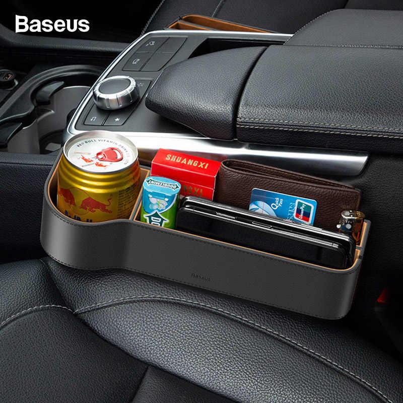 Baseus araba koltuğu Gap organizatör deri oto koltuk çatlak dolgu saklama kutusu kart kupası araba aksesuarları cep tutucu organizatör