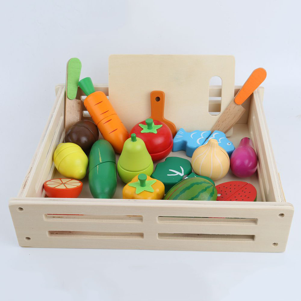 Kid's <font><b>Kitchen</b></font> <font><b>Toys</b></font> Wooden Pretend <font><b>Toy</b></font> Cutting Fruit Vegetable Miniature Food Girls <font><b>Toys</b></font> <font><b>Kitchen</b></font> <font><b>Set</b></font> Baby Early Educational <font><b>Toys</b></font> image