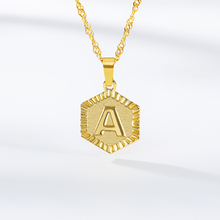 Personalized A-Z Letters Gold Color Charm Pendant Necklace for Women Girl English Initial Alphabet Long Chain Choker Jewelry BFF