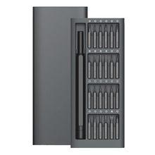 New Daily Use Kit 24 Precision Magnetic Bits Aluminum Box Diy Screw Dri
