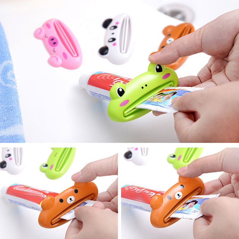 Portable Toothpaste Extruder Travel Accessories Multifunction Cartoon Organizer Cosmetic Toothpaste Tools Wash Accessories