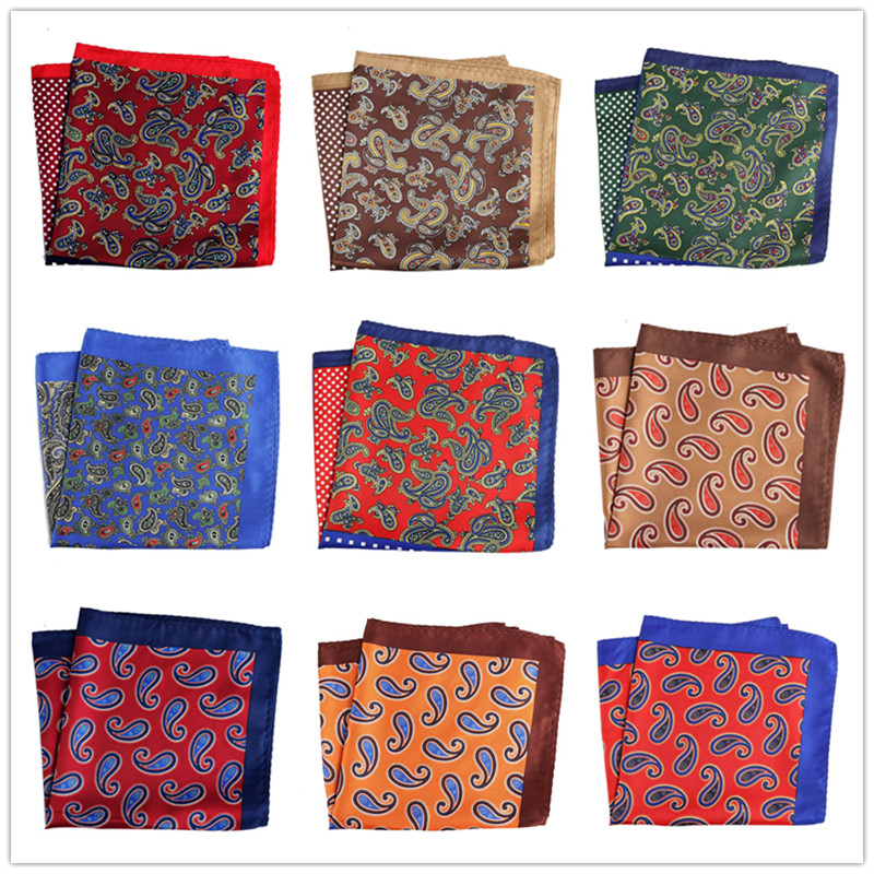 28 Colors Men's Handkerchief  Pocket Square Polyester Floral Hankies Chest Towe  Printed Business  Wedding Party 32*32CM PH38-72