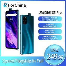 Игровой процессор UMIDIGI S5 Pro Helio G90T 6 ГБ 256 Гб Смартфон FHD + AMOLED встроенный отпечаток пальца всплывающая селфи камера 48 МП NFC