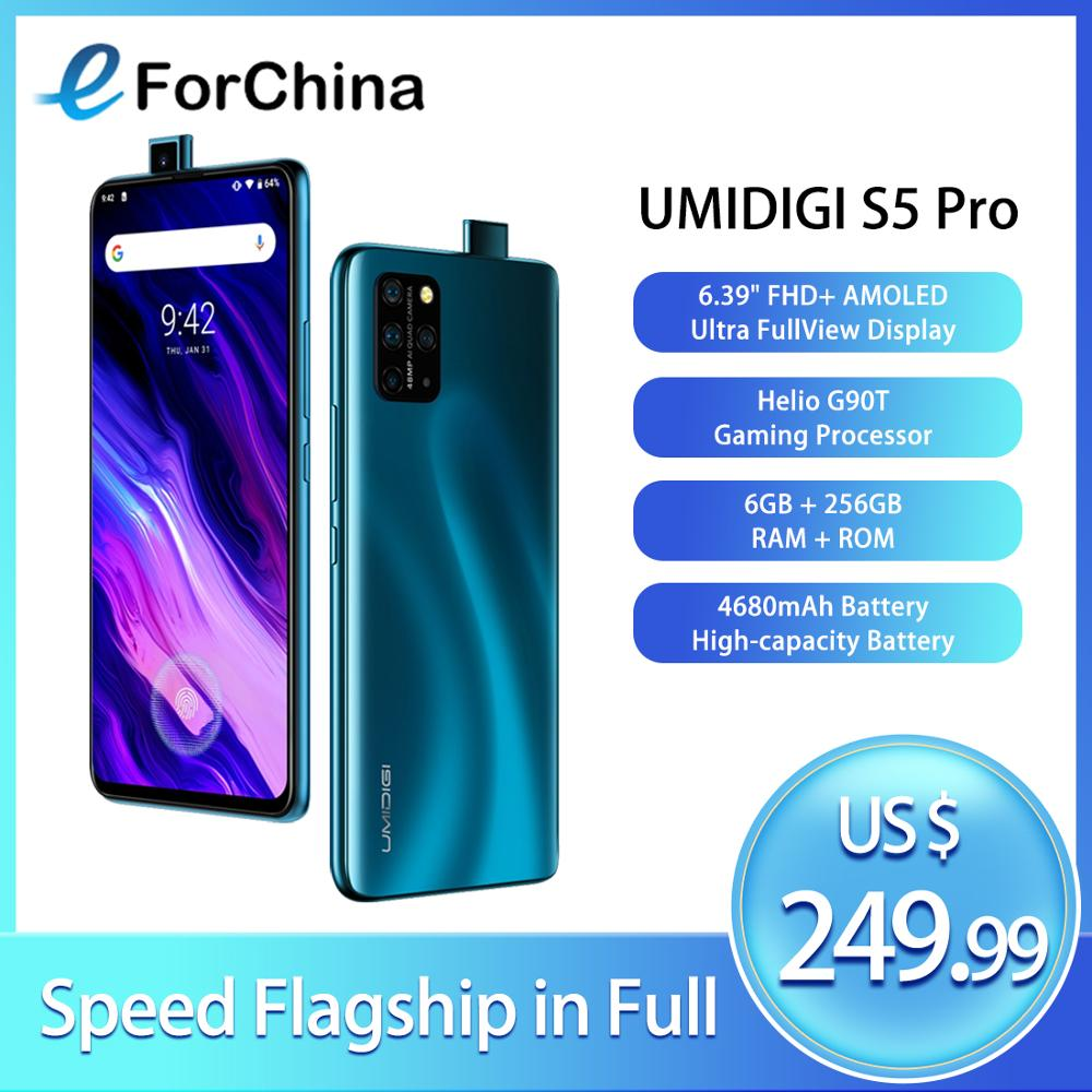 UMIDIGI S5 Pro Helio G90T Gaming Processor 6GB 256GB Smartphone FHD+ AMOLED In-screen Fingerprint Pop-up Selfie Camera 48MP NFC image