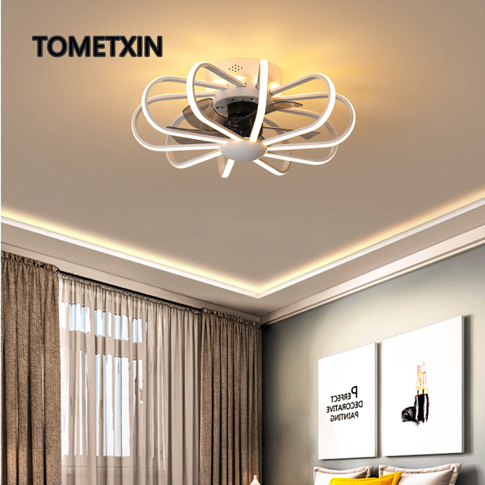 Led Ceiling Ventilator Lamp Fan Light Bedroom Living Room Lamps Integrated Fans Ac220v Pure Copper Motor With Remote Contorl Numerous In Variety