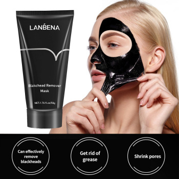 цены LANBENA Bamboo Charcoal Black Mask Face Care Deep Cleansing Purifying Blackhead 3 Steps Black Head Remover Acne Facial Nose Mask