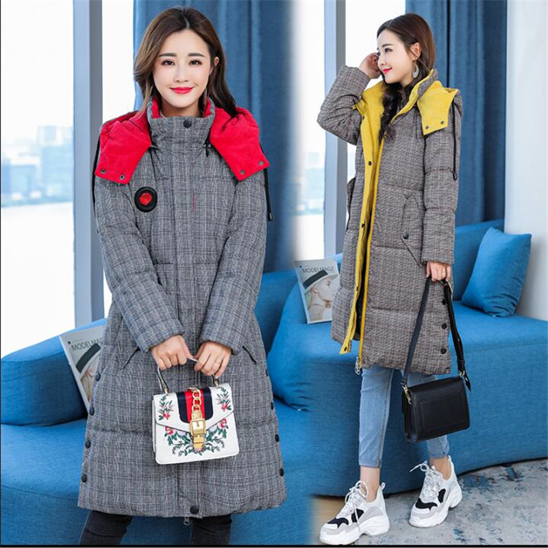 Warm Thicken 2019 New Arrival Winter Jacket Women Long Down Cotton   Parkas   Female Hooded Coats Plus Size 5XL Coat Jacket D434