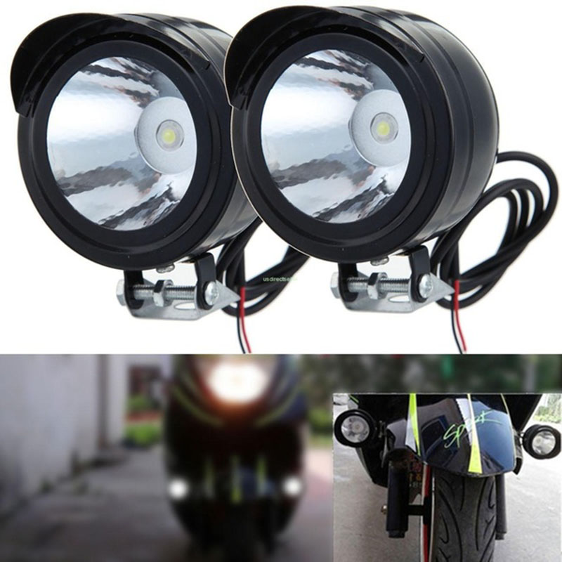 1pc Motorcycle Headlight Spot Fog Lights Head Lamp White <font><b>LED</b></font> Front <font><b>12</b></font>-<font><b>80V</b></font> Driving Motorcycle Electric car spotlights image