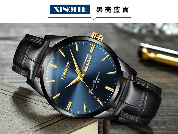 Ha8c997609a1f45d49c63061f943385ddi XINQITE Official Men Watches 2019 brand luxury Quartz Watches Fashion Genuine Leather Waterproof Watch for gentleman Students