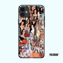 Lana Del Rey di modo collage molle Del silicone di vetro di copertura della cassa Del telefono di shell per il iPhone 6 6s 7 8 Più X XR XS 11 Pro Max