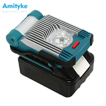 14.4V / 18V 9W Led Portable Spotlight 6.0 AH li-ion Battery 420LM Led Work Light for Outdoor Flashlight for Makita LXT Batteries(China)