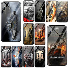World of Tanks For iPhone 5 5S SE 6 6S 7 8 Plus X XR XS 11 Pro Max Tempered Glass Phone Cases Back Cover Capa(China)
