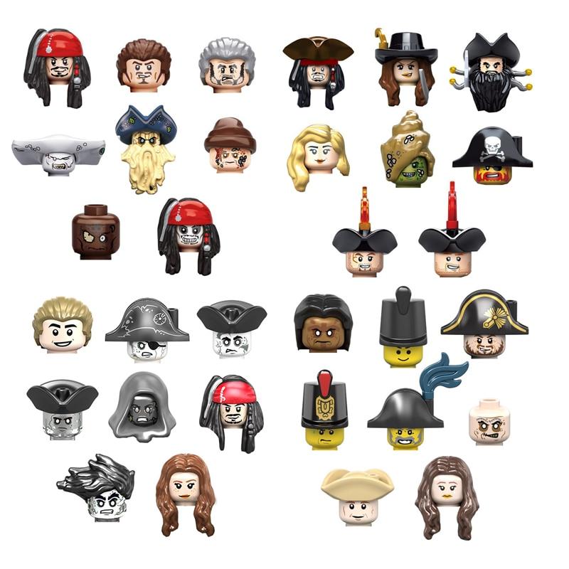 Mini Caribbean Pirates Figures Building Blocks 8pcs/Lot Movie Character Captain Mermaid Bricks Set Children Educational Toys