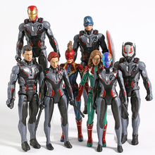 Avengers Endgame Iron Man capitán Marvel América Viuda Negra nebulosa Hawkeye Ant-Man PVC figuras de acción juguetes 8 unids/set